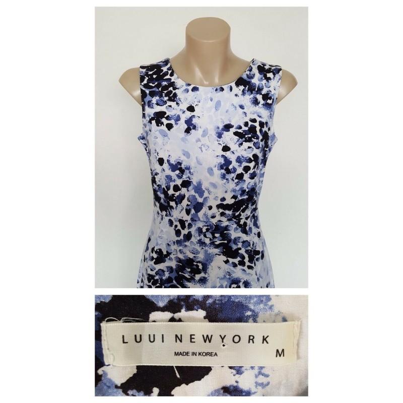 LUUI NEW YORK Ladies Patterned Sleeveless Dress Size Medium M