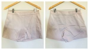 SABA Womens Beige Front Overlay Shorts Size 10