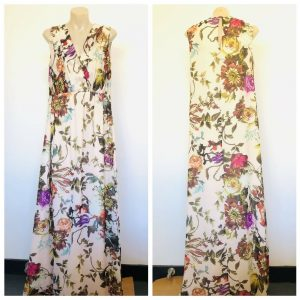 TED BAKER Women Floral Multicolour Sleeveless Dress Size 3 (AUS 10- 12)