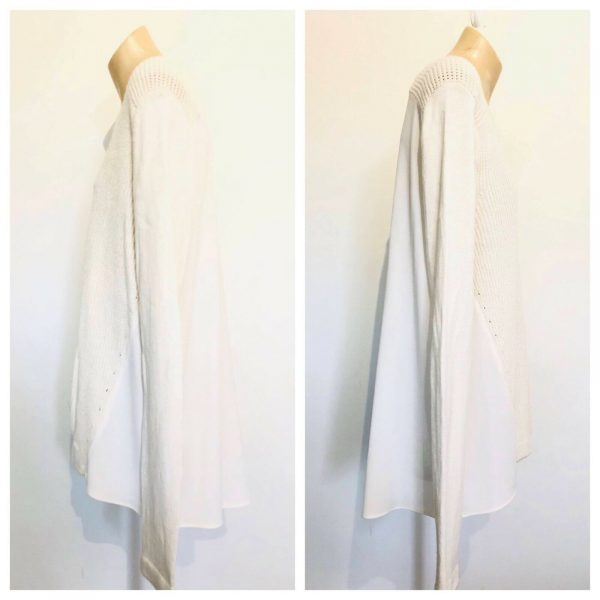 SEED HERITAGE Womens White Knit Long Sleeve Sweater Top Size Large L