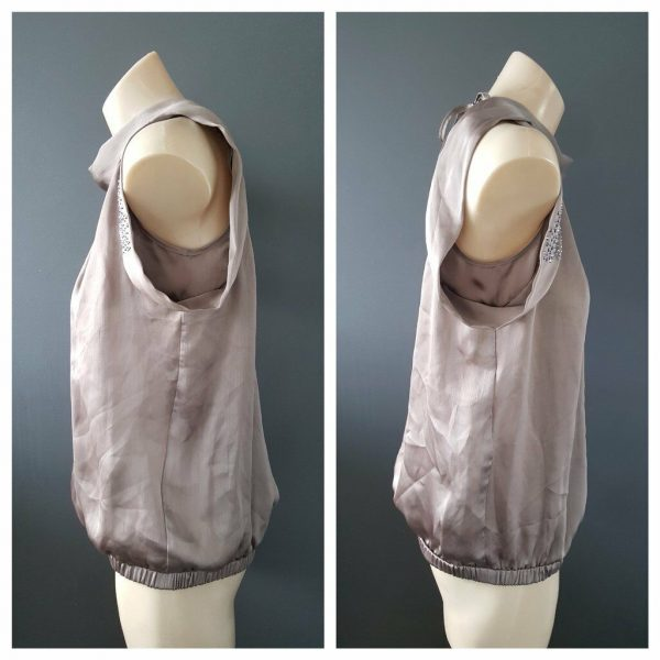 RIVER ISLAND Studded Halter Top Size 10