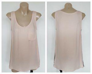 VERONIKA MAINE Ladies Coral Pastel Pocket Detail Sleeveless Top Size 8