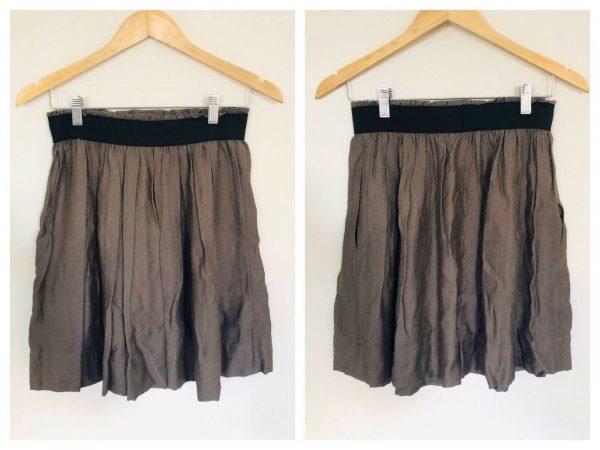 SABA Dark Grey Elasticated Waist Skirt Size 8