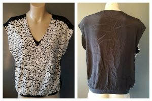 MIMOSA Womens Silk Sleeveless Top With White Sequins Size 6
