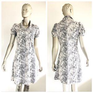 CALVIN KLEIN Snake Print Design Short Sleeve Dress Size 2