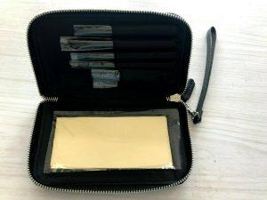 Witchery Women Black Makeup Set Brushes Zipper Wallet