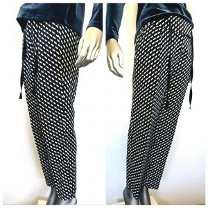MAX MARA Weekend Womens Black & White All Over Patterned Pants Size 14 (US)