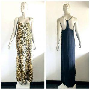 NICHOLAS Women's 100% Silk Leopard Print Sleeveless Dress Size 8 BNWT