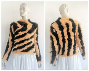 """SASS & BIDE """"Visionaire"""" Faux Fur Knit Pullover Jumper Sweater Size S RRP 390"""